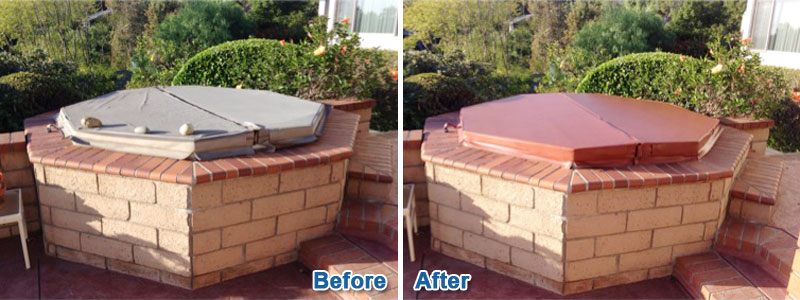 Before & After Outdoor Spa Cover